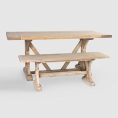 Great table and bench with a farmhouse feel! {aff}