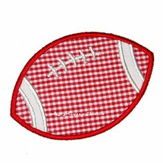 Football Machine Embroidery Applique