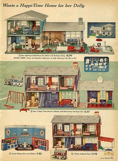 I had the one on top of page metal dollhouses, Sears . I had the one on top of page Christmas Catalogs, Christmas Books, Vintage Christmas, Vintage Dollhouse, Vintage Dolls, Dollhouse Design, Vintage Advertisements, Vintage Ads, Childhood Toys