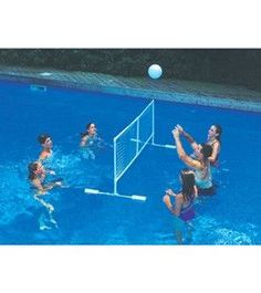 Homemade pool sprinkler used 2 inch pvc female elbow for Pool design for volleyball