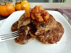 Vanilla & Spice: Blueberry Pancakes with Persimmon Topping