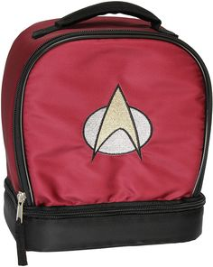 Uss Enterprise D, Star Trek Insignia, Star Trek Merchandise, Meal Prep Bag, Insulated Lunch Box, Star Trek Tos, Lunch Tote, Red Color Schemes, Tote Bag