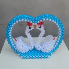 3D beading Couple Swan Handmade beadwork for kids Wedding/Valentine's day gift