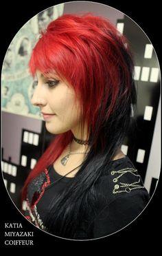 Katia Miyazaki Coiffeur - Salão de Beleza em Floripa: cabelo colorido - cabelo vermelho - vermelho inten...