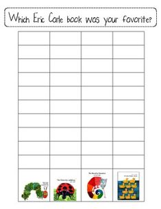 Which Eric Carle book was your favorite? Survey for Week 1- modify for books in our unit?