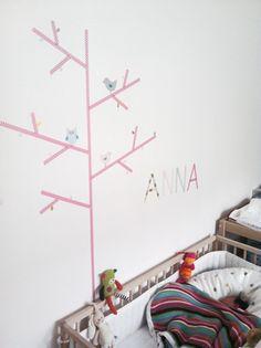 mommo design: WASHI TAPE WALL DECOR