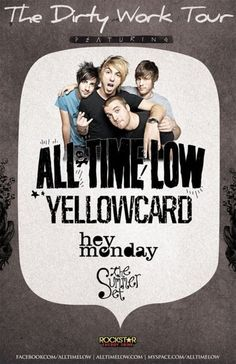 2011 All time Low, Yellowcard, Hey Monday & The Summer Set     Woo Go Cassadee Pope ;)