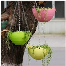 US $28.00 Plastic Resin Thickening Bracketplant Flowerpot With Chains Decorative Hanging Basket Flower Pots Gardening Tool p014. Aliexpress product