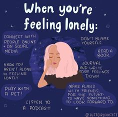 Mental And Emotional Health, Mental Health Quotes, Feeling Lonely, Feeling Down, Emotional Awareness, Positive Self Affirmations, Self Care Activities, Self Reminder, Just Girl Things