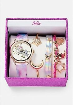 Justice Accessories, Girls Accessories, Girls Jewelry, Cute Jewelry, Stylish Watches For Girls, Unicorn Fashion, Unicorn Jewelry, Dolphin Jewelry, Cool School Supplies