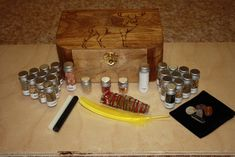 Horned God , Stag Herb Box , Witches Spell Box,Altar Kit,Wiccan Herbs