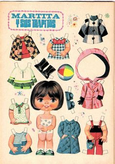 Paper Dolls Book, Vintage Paper Dolls, Paper Toys, Comics Vintage, Vintage Posters, Sweet Memories, Childhood Memories, Cardboard Crafts, Paper Crafts