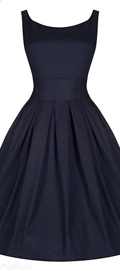 e66644d6b717 Lindy Bop Lana Vintage 1950s Inspired Swing Dress Abito Da Cocktail Nero,  Vestito A Gonna