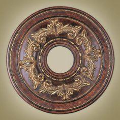 Verona Bronze Ceiling Medallion Livex Lighting Finished Ceiling Medallions  Home Decor
