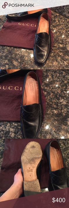 Men's Gucci Loafer Used, but in great condition as you can see from pictures. Size 9 Gucci men's Loafer. Comes with dust bag. Gucci Shoes Loafers & Slip-Ons