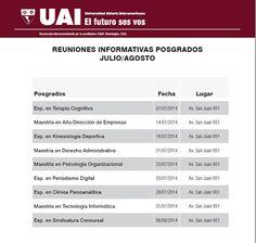 Reuniones Informativas 2º Cuatrimestre | Posgrados.  JULIO / AGOSTO #UAI http://quevasaestudiar.com/estudiar-en-Universidad-Abierta-Interamericana-16