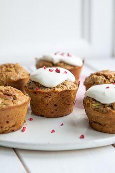 Sunde squashmuffins til morgenmad og madpakken - Stinna Breakfast Recipes, Dessert Recipes, Desserts, Squash, Healthy Snacks, Cupcake, Sweet Treats, Healthy Living, Cheesecake