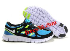 #Frees30 com Over 50% Off Shoes,$54.36 Nike Free Run 2 Size 12 Blue Glow White Black Volt