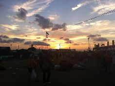 Jazz Fest hours are approximately 11AM to 7PM, which means if you stay all day you are treated to a beautiful sunset.