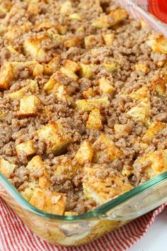 Overnight Cinnamon Apple Baked French Toast Casserole is perfect for the holidays and great for any time you want a fun breakfast without a ton of work! Baked French Toast Casserole, Best Breakfast Casserole, French Toast Bake, Breakfast Dishes, Breakfast Recipes, Breakfast Ideas, Breakfast Wraps, Overnight Breakfast, Morning Breakfast