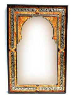 Mediterranean Mirror Wall Moroccan Handmade Camel Bone Home Decor Small Natural