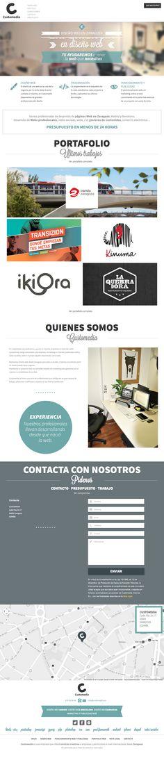 Diseño web Zaragoza. Diseño de páginas web Zaragoza. Empresa de diseño web en Zaragoza  Customedia #webdesign #inspiration