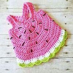 Crochet Baby Watermelon Summer Open Back Swing Top Tank Halter Top Polka Dot Tie Knot Cotton Headband Tutu Set Newborn Infant Toddler Handmade Clothing - Red Lollipop Boutique Crochet Baby Blanket Beginner, Baby Girl Crochet, Crochet Baby Clothes, Baby Knitting, Newborn Crochet, Crochet Dresses, Crochet Summer Hats, Crochet For Kids, Summer Knitting