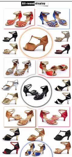 Aliexpress.com: Comprar 2015 nuevas muchachas de la marca mujeres de salsa del salón de tango zapatos de baile latino 7 cm tacón alto del estilo 22 de proveedor de calzado fiable proveedores en yashion dance shoes world