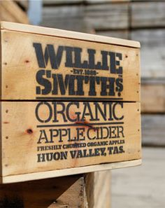 Willie Smiths Organic Apple Cider - Huon Valley, Tasmania.