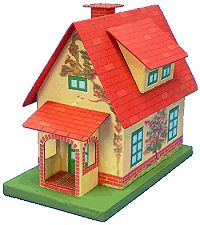This Cape Cod pattern from Howard Lamey is perfect for houses that need a slanted dormer.   LOVE the wee porch, too.