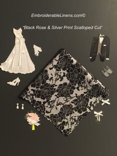 Black Rose and Silver Print No Ugly Crying by Weddinghanky on Etsy