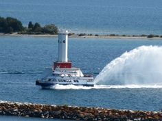 Mackinac Island Lighthouse and the Starline Ferry
