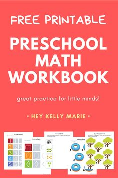 25 free printable pages of fun preschool math activities to teach  counting, number recognition, fingerprint counting, and shapes.   #preschoolmath#preschoolmathactivities#preschoolmathworksheets#preschoolmathfreeprintableworksheets#preschoolmathactivitiestodoathome#preschoolmathactivitiesforfouryearolds Free Preschool, Preschool Learning, Teaching Math, Preschool Activities, Math Workbook, Number Recognition, Homeschool Math, Math Facts, Three Year Olds