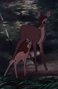 Bambi and his mom.  I still cry like a baby every time I watch this.
