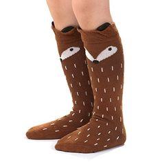 Qteland Little Fox Pattern Unisex-baby Knee High Socks Tube socks for Kids years), Coffee) Toddler Girl Outfits, Toddler Girls, Little Fox, Fox Pattern, Tube Socks, Young Ones, Baby Warmer, Fit 4, Knee High Socks