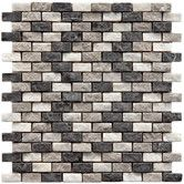 """Found it at AllModern - Grizelda 0.5"""" x 1.25"""" Natural Stone Mosaic Tile in Charcoal"""