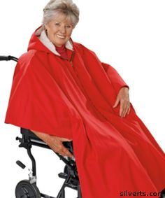 Womens / Mens Adaptive Wheelchair Clothing Poncho Lined Cape  $185.00
