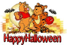 Find GIFs with the latest and newest hashtags! Search, discover and share your favorite Celebrate Halloween GIFs. The best GIFs are on GIPHY. Disney Halloween, Winnie The Pooh Halloween, Winnie The Pooh Cartoon, Photo Halloween, Happy Halloween Quotes, Tigger And Pooh, Halloween City, Feliz Halloween, Halloween Greetings
