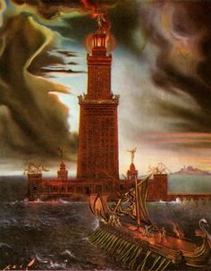 This was Pharos Lighthouse of Alexandria, which of the vanished wonders of the ancient world, was the last built and the last to remain standing. Description from skyscrapercity.com. I searched for this on bing.com/images