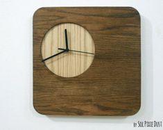 Madera simplemente círculo reloj de pared de por SolPixieDust