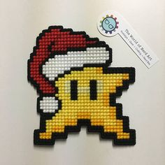8bit Inspired Nintendo Super Mario Bros Power Star