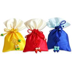 Korea Traditional 10 Colors Two-tones Silk Lucky Pocket Pouch S #Unbranded
