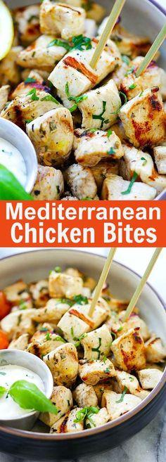 Mediterranean Chicken Bites – juicy, tender and the most flavorful chicken bites with Mediterranean marinade. So easy to make and delicious | rasamalaysia.com