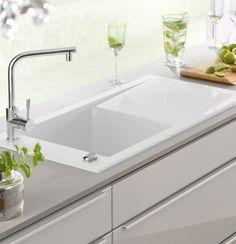 Villeroy U0026 Boch Timeline 60 Keramikspüle Mit Excenterbetätigung: Die  Küchenspüle Ist Für Den Aufliegenden Einbau