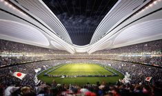 Zaha Hadid, Tokyo National Stadium, future building, 2019 Rugby World Cup, futuristic architecture, modern building, Japan