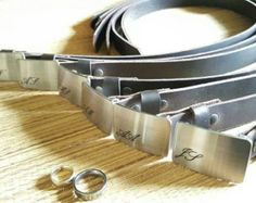 """Items similar to Personalized Keepsakes Groom & Groomsmen's Brushed Stainless Steel Belt Buckles Wedding Accessories Hand Forged Belt Buckles Fits 1.5"""" Belt on Etsy"""