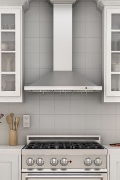 Remodel your kitchen with one of our most popular models, the ZLINE KBCRN wall mount stainless steel range hood with crown molding. It has a modern design, ducting & ductless venting options, & built-to-last quality that would make a great addition to any home or kitchen remodel & looks great with white cabinets. This hood's high-performance 760 CFM & 4-speed motor will provide all the power you need to quietly and efficiently ventilate your kitchen while cooking. Visit www.zlinekitchen.com