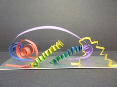 paper sculpture art for kids - Google Search