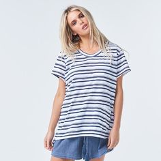 Torju Catch A Wave Organic Cotton Stripe Tee - Small Fair Trade Clothing, Ethical Clothing, Clothing Labels, Sustainable Clothing, Contemporary Fashion, Slow Fashion, Striped Tee, Organic Cotton, Wave
