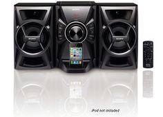 Sony Hi-Fi Mini System CD Player MHCEC609iP with iPhone/iPod Dock